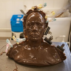 Grace Jones in chocolate - how the album cover artwork was made