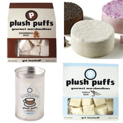 Plush Puffs - super marshmallows, from crazy flavors to mug toppers (a disc of mallow) to 2lb marshmallows!
