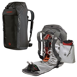 Mammut Neon Gear Backpack ~ ideal for climbing, but versatile and sleek with great compartments for all kinds of travel/adventures.