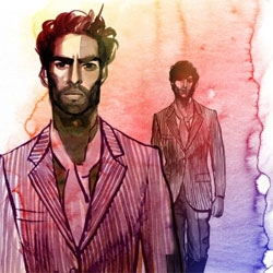 Illustrator Jaume Vilardell ~ shows us beautiful watercolors of spanish men's fashion S/S '11 for the Southsider