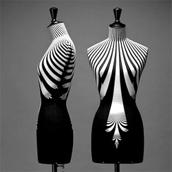 Haute Couture limited edition busts created by graphic designer Emmanuel Bossuet, and currently on exhibit at Bon Marche, Paris.