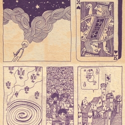 """A Dream To Have In Heaven"" (Tengoku De Miru Yume - 天国でみる夢) by Maki Sasaki is a surreal non-narrative one-shot manga published in November 1967."