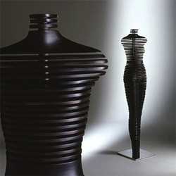Cool and abstract manikins designed in Italy by MD Studio using fiberglass, acrylic and aluminum.