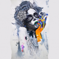 Minjae Lee is a young South Korean artist whose work expresses a semi-disturbing inner tension that is tough to ignore, even if you feel that you'd like to.