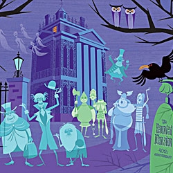 "SHAG will be on hand for a special meet & greet and signing opportunity as we celebrate the release of his ""Haunted Mansion"" inspired artwork created in commemoration of the 40th Anniversary of the Haunted Mansion."