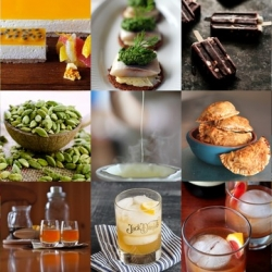 This week's roundup from Tasteologie and Liqurious includes the history of fondue, blood orange sangria, apple pie macarons and more.