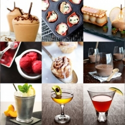 This week's roundup from Tasteologie and Liqurious includes burnt sugar syrup cocktails, mini cinnamon buns, prosciutto cups and more.