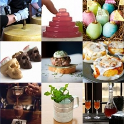 Elderflower Gimlets, Easter egg cupcakes and noisy jelly all feature in this week's roundup from Tasteologie and Liqurious.