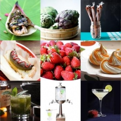 Rambutan Martinis, Kahlua Pudding Pops, and Cupcakewurst are all part of this week's delicious roundup from Tasteologie and Liqurious.