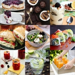 This week's delicious roundup from Tasteologie and Liqurious includes homemade California rolls, citrusy pomegranate sangria and decadent chocolate peanut butter birthday cake.