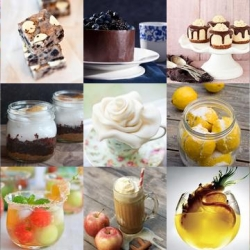 Apple cider floats, marshmallow fondant flowers, and mini butterfinger cheesecakes are all part of this week's roundup from Tasteologie and Liqurious.