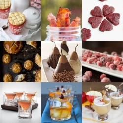 Cubist martinis, delicately sugared cranberries and pears dipped in chocolate are all part of this week's roundup from Tasteologie and Liqurious.
