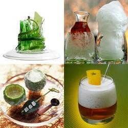 Molecular Mixology ~ Art + Science + Drinks = Liquids taking the forms of liquid filled spheres, cotton candy, gels, dusts, sorbets, foams, infusions and more. See the collection of links at Liqurious!