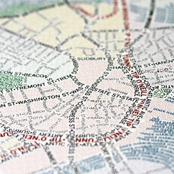 Axis Maps ~ tyopgraphic mapping! Fun prints.