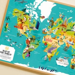Monocle's second World Map edition print comes from the skilled hand of Japanese illustrator Satoshi Hashimoto.