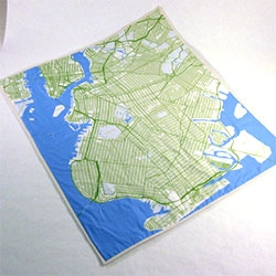 Haptic Lab has map baby quilts ~ this is Brooklyn, there is also LA, Boston, NYC, Central Park, Chicago, London, New Orleans, Paris, Portland and more!
