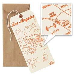 "MapNotes by MapTotes ~ fun 4""x9"" tag/cards with maps of Brooklyn, LA, SF, Portland, Seattle, NYC, Manhattan, Martha's Vineyard, Paris and Philly!"