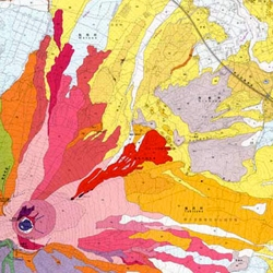 These volcano maps from the Geological Survey of Japan are amazing.