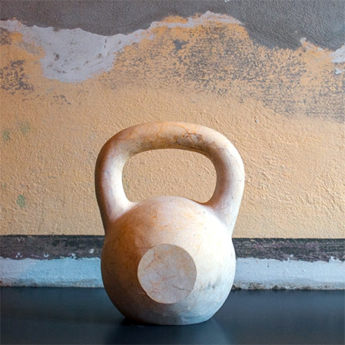 TeamDoW Real Marble Kettlebells - A sculpture, an exquisite home decoration and a real fitness tool.