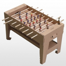 Kartoni's I Like To Kick is a flat pack foosball table made of cardboard and sustainable wood, includes a smartphone cradle and has its own app...