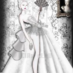 "Stunning Illustration ""Marie Antoinette"" by CLAU CLAU."