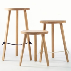 Mariner is a beautifully simple timber stool, designed by Ben Wahrlich, that features a braided rope footrest.
