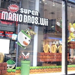 I love A Design Affair's look at Nintendo's window display!