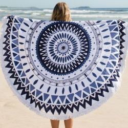 Circular beach towel/blanket! The Beach People's Majorelle Roundie - picnic perfect?