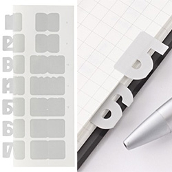 Muji Number shaped index stickers