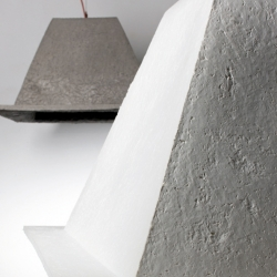 Pyrus is made of paper but it looks like concrete. A great lamp by german designer Mark Braun.