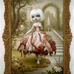 "Mark Ryden's latest exhibit ""A Gay 90's Old Tyme"" can now be seen in NY and references the idealism of the 1890s while addressing the role of kitsch and nostalgia in our current culture."
