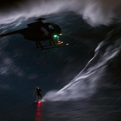 Mark Visser Rides Big Waves at Night!