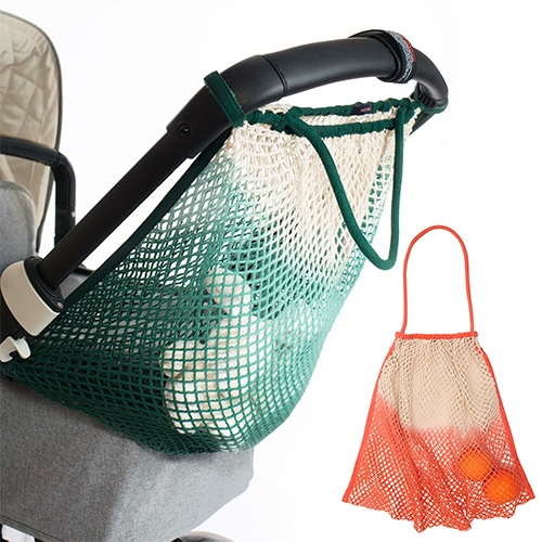 Mara Mea multipurpose Stroller Net Bags are inspired by classic french market bags in an array of vibrant colors. It attaches to the stroller with velcro straps.
