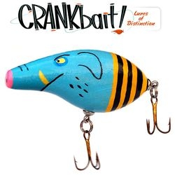 "CRANKBait! is another ""get 20 artists and give them a random thing to paint"" event. This time the poor hapless object is a wooden fishing lure."