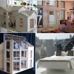 Mark Turpin's Pine Island:  These architectural replicas, miniature doll houses, buildings and furniture are breathtaking. You can even have a custom replica of your home made. And the interiors are just as impressive as the exteriors. WOW.