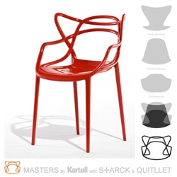 Milan 09 ~ Kartell launches Philippe Starck's Masters chair ~  a hybrid of Arne Jacobsen, Charles Eames, Eero Saarinen...