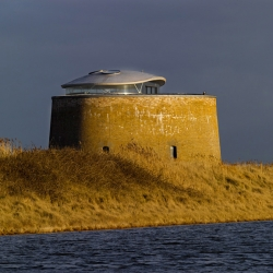 Napoleonic Martello Tower Y in Suffolk,UK was recently purchased by Duncan Jackson of Billings Jackson Design, and renovated with the help of Piercy Conner Architects.