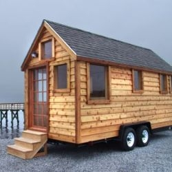 Julie Martin has started a new company called Martin House-To-Go with the goal of making an affordable tiny house that can easily be moved from place to place on a trailer.