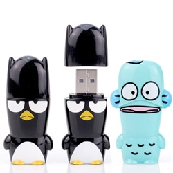 Sanrio x Mimobot = Badtz-Maru + Hangyodon USB toys ~ the final characters in the 6 Sanrio 50th anniversary collection