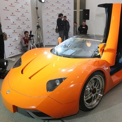 Pictures of MARUSSIA [ma:ru sja] first Russian GT supercar was presented in Moscow on Tuesday.
