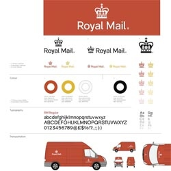 Mash Creative 'Rethink' of the Royal Mail logo for ICON magazine.