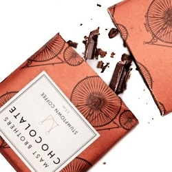 Who Made Those Chocolate Wrappers? The NYT talks to Mast Brothers Chocolates about the papers used on their distinctively wrapped chocolate bars.