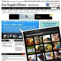 LA Times Newsmatch powered by Visual DNA ~ it's like the horoscope of news... pick through a bunch of stock photos, they decide things about you, tell you who you are and customize a news feed...