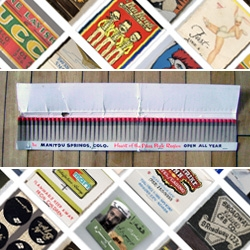 World Famous Design Junkies first collection of matchbook covers - plain jane to oddball indeed!