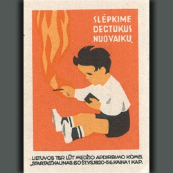 Matchbox labels from around the world — the majority are Eastern European — from the 1950s and 60s.
