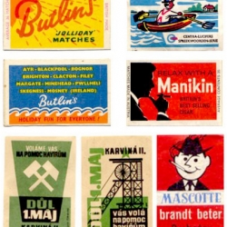 Vintage matchbook covers.
