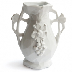 "Erich Ginder's new ""Materialized"" vase is the first in a series of products created by scanning heavily adorned forms with laser scanners, resulting in jewel like abstractions free of the designers hand."