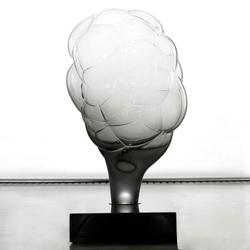Mathieu Lehanneur S.M.O.K.E lamp at the Carpenters Workshop in London.