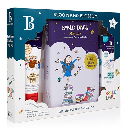 Bloom and Blossom's Roald Dahl Collection has such fun packaging (with Quentin Blake illustrations!) - from Matilda's Magical Pillow Spray to Whoppsy Whiffling Conditioner, The Twits Wicked Hand Wash, Grobby Little Grub Hair & Body Wash and more.