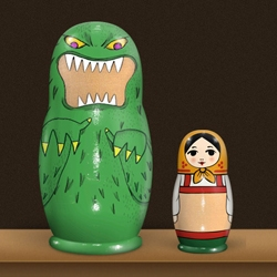 Matryoshka for iPhone lets you create beautiful little virtual Matryoshka dolls with your photos on them.